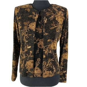 Dressbarn Collection Gold Rose Glitter Twinset S
